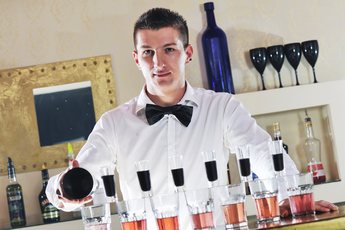 bartender preparing a drinks