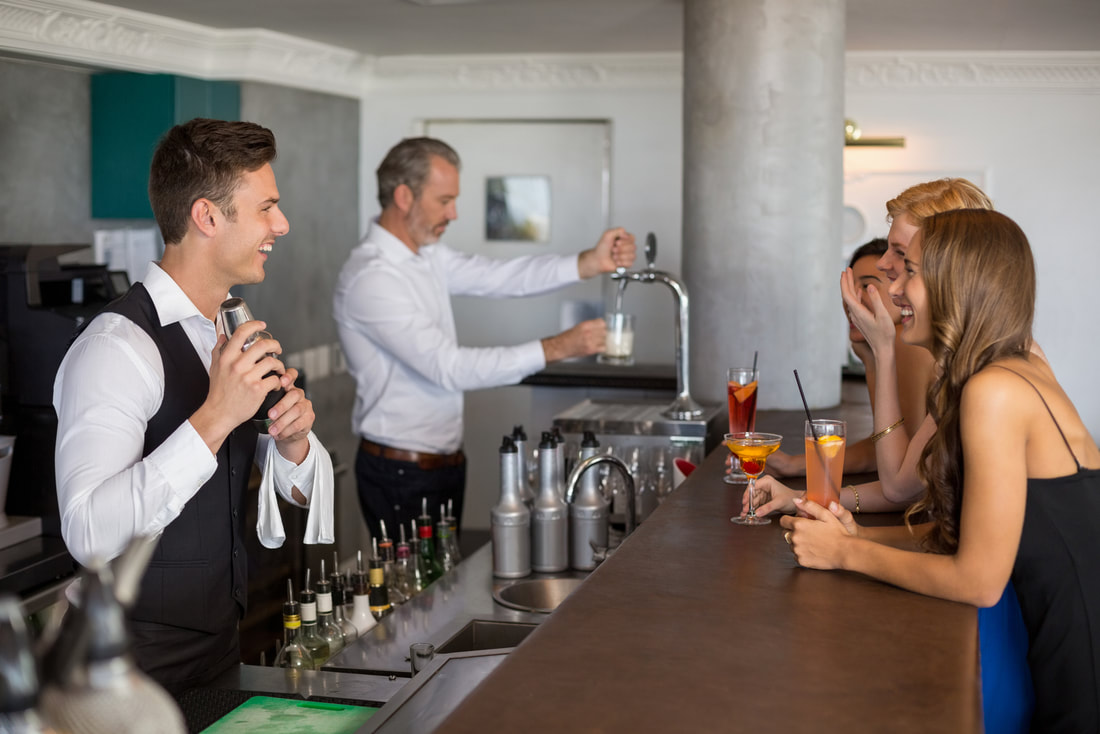 bartenders preparing a drinks